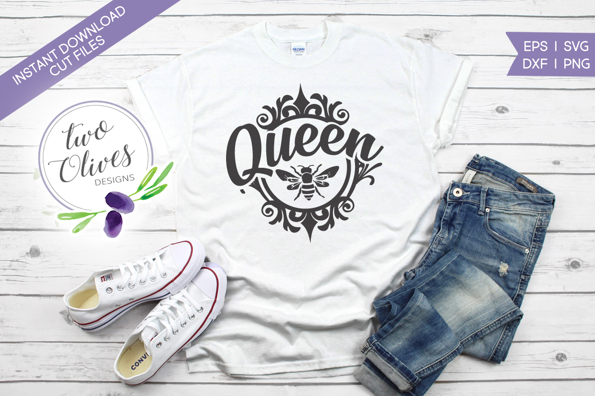 Download Free Queen Bee Graphic By Twoolivesdesigns Creative Fabrica for Cricut Explore, Silhouette and other cutting machines.