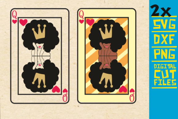 Queen Crown Card, Afro Girl, Crown Grafik Illustrationen von svgyeahyouknowme