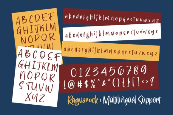 Print on Demand: Ragnarock Display Font By goodjavastudio - Image 6