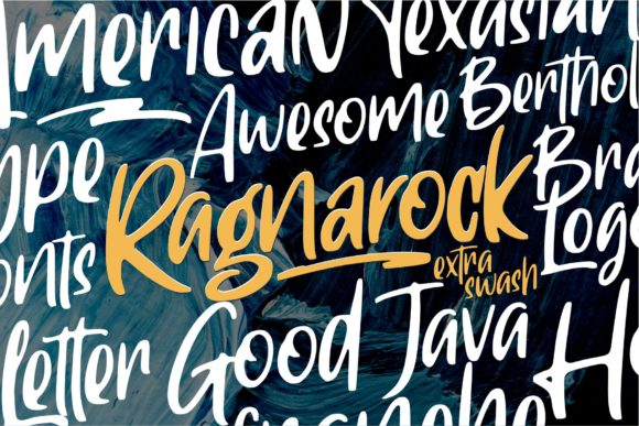 Print on Demand: Ragnarock Display Font By goodjavastudio - Image 1