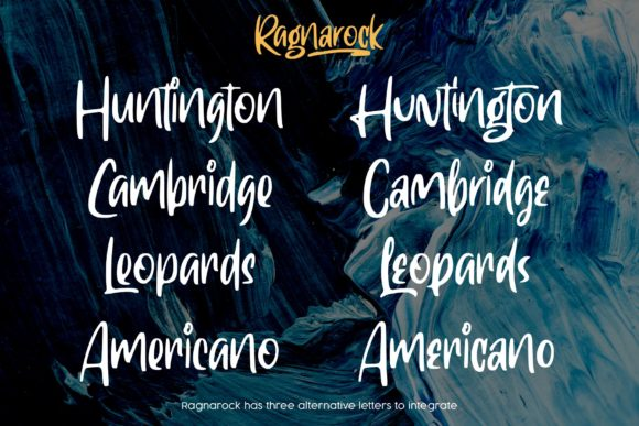 Print on Demand: Ragnarock Display Font By goodjavastudio - Image 7
