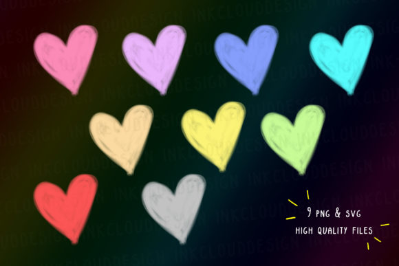 Print on Demand: Rainbow Hearts, Pride Month, Cotton PNG Graphic Icons By Inkclouddesign - Image 2