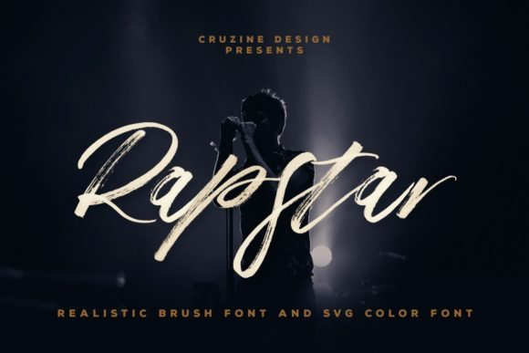 Print on Demand: Rapstar Script & Handwritten Font By JumboDesign