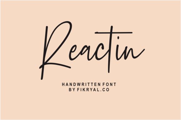 Print on Demand: Reactin Script & Handwritten Font By mfikryalif