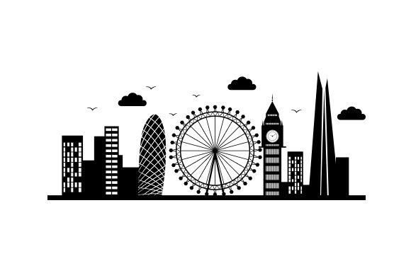 Realistic London Cityscape UK Designs Craft Cut File By Creative Fabrica Crafts