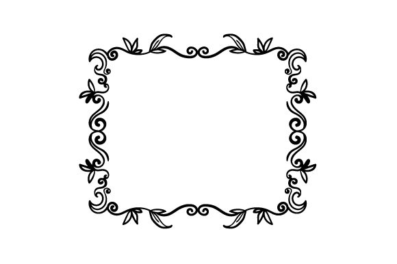 Download Free Rectangle Shaped Line Art Doodle Frame Svg Cut File By Creative for Cricut Explore, Silhouette and other cutting machines.
