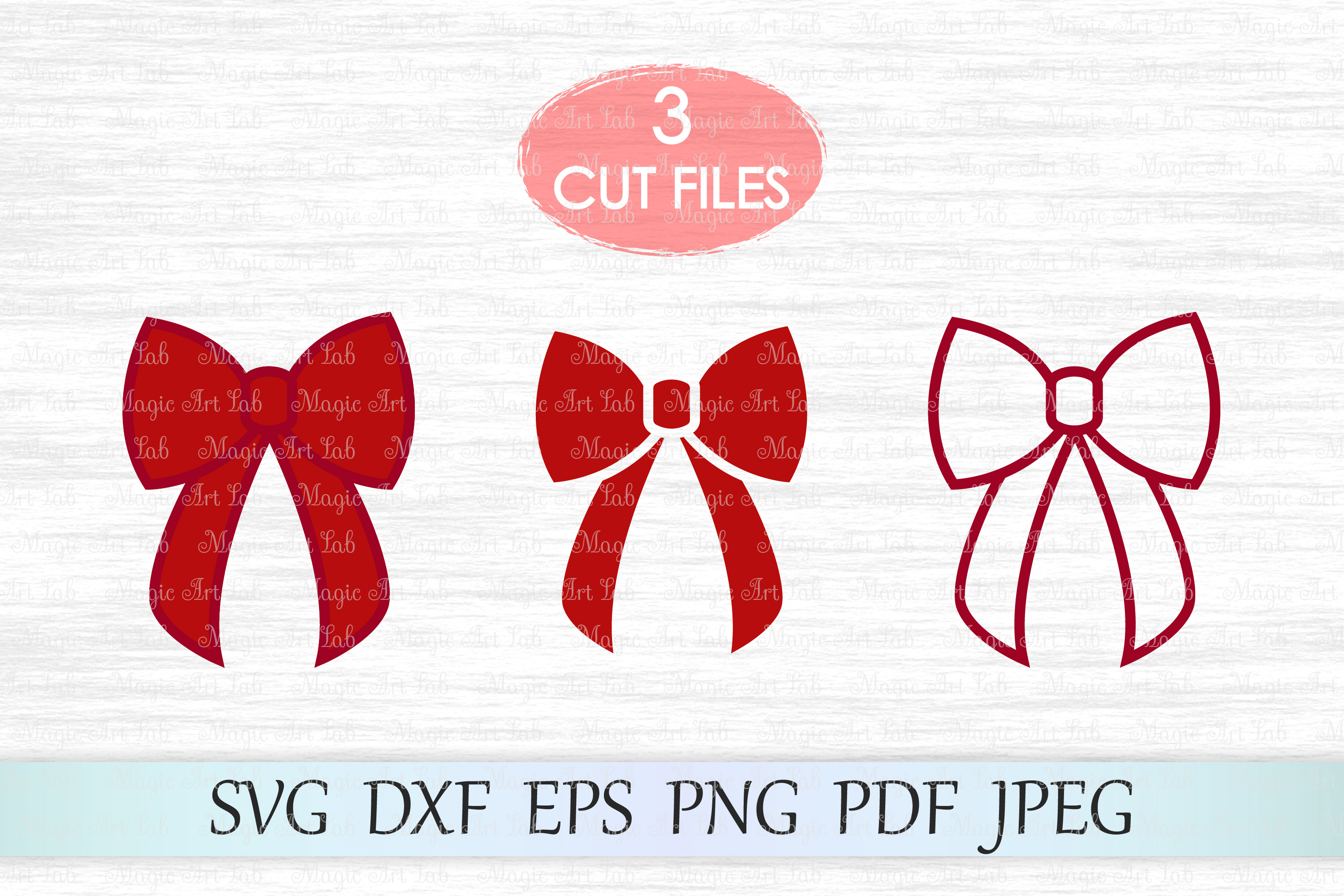 Download Free Red Bow Graphic By Magicartlab Creative Fabrica SVG Cut Files