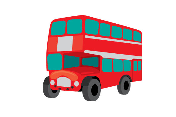 Red Double Decker Bus UK Designs Craft Cut File By Creative Fabrica Crafts