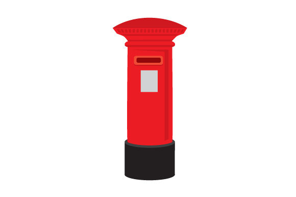 Red Post Box UK Designs Craft Cut File By Creative Fabrica Crafts - Image 1