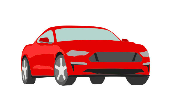 Red Sports Car Garage Craft Cut File By Creative Fabrica Crafts