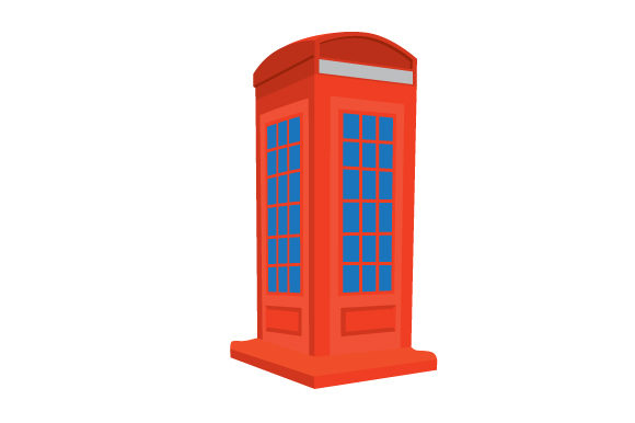 Red Telephone Box UK Designs Craft Cut File By Creative Fabrica Crafts