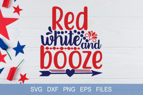 Red White and Booze Graphic Print Templates By Graphicsqueen