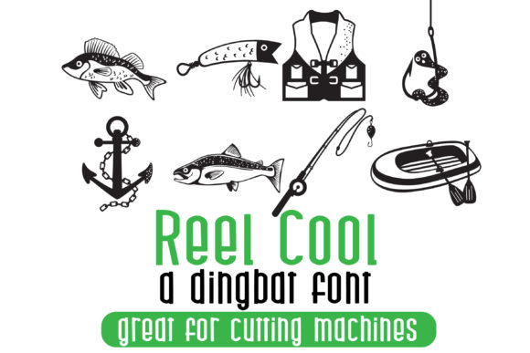Print on Demand: Reel Cool Dingbats Font By Illustration Ink