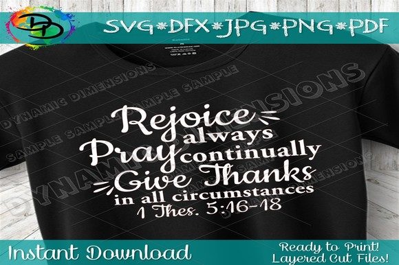 Download Free Rejoice Always 1 Thessalonians 5 16 Graphic By for Cricut Explore, Silhouette and other cutting machines.