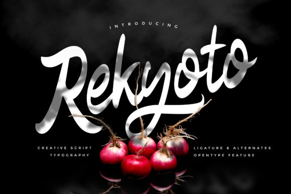 Print on Demand: Rekyoto Script & Handwritten Font By Vunira