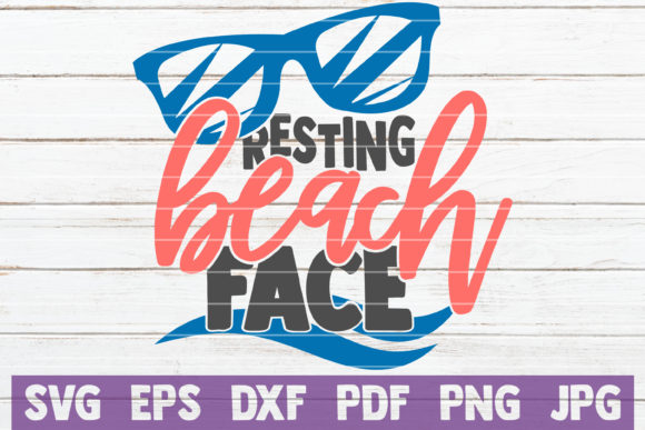 Download Free Resting Beach Face Svg Cut File Graphic By Mintymarshmallows for Cricut Explore, Silhouette and other cutting machines.