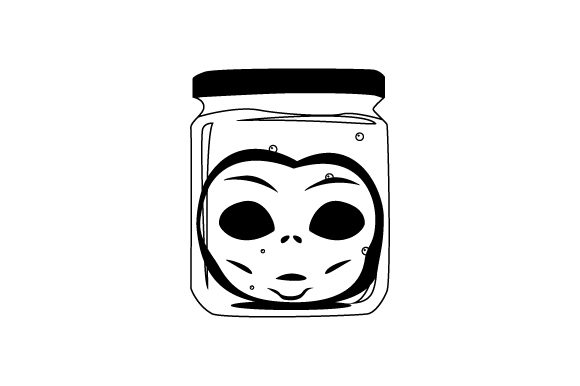 Download Free Retro Alien Head In Jar Svg Cut File By Creative Fabrica Crafts for Cricut Explore, Silhouette and other cutting machines.