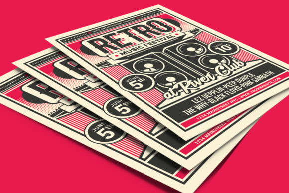 Retro Music Festival Graphic Print Templates By muhamadiqbalhidayat - Image 4
