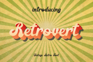 Print on Demand: Retrovert Script & Handwritten Font By anomali.bisu