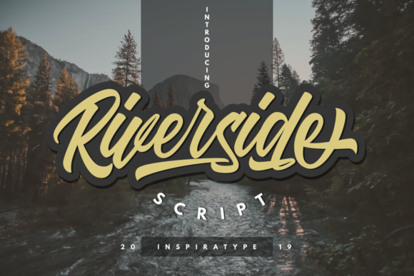 Print on Demand: Riverside Script & Handwritten Font By InspiraType