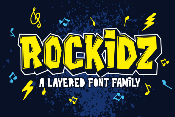 Print on Demand: Rockidz Display Schriftarten von figuree studio