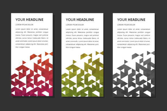 Roll Up Banner Triangle  Polygonal Graphic By noory.shopper
