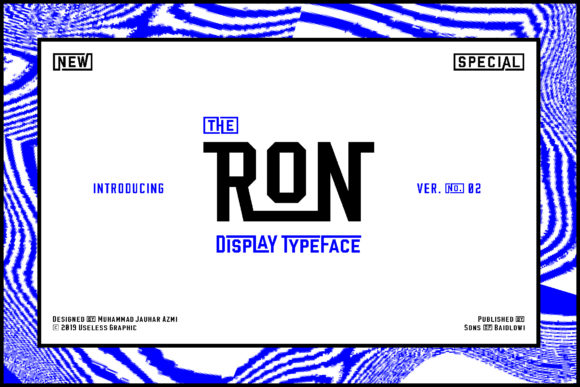 Print on Demand: Ron Display Font By Sons Of Baidlowi