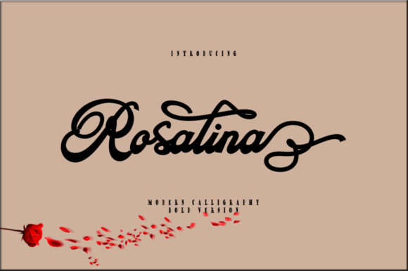 Print on Demand: Rosalina Script & Handwritten Font By sapre.studio