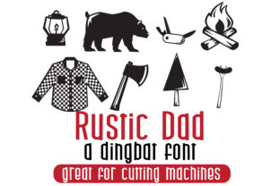 Print on Demand: Rustic Dad Dingbats Font By Illustration Ink