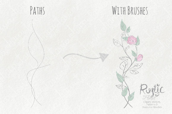 Print on Demand: Rustic Floral Graphics Pack Graphic Illustrations By Michelle Alzola - Image 3