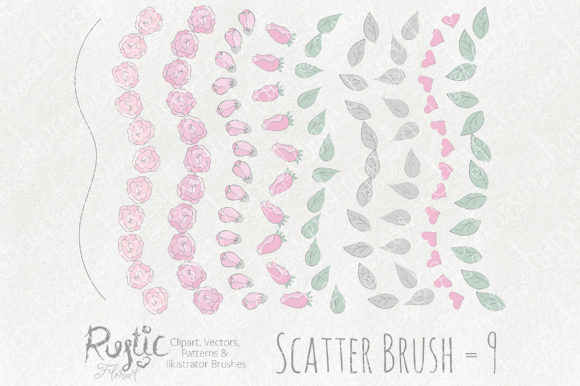 Print on Demand: Rustic Floral Graphics Pack Graphic Illustrations By Michelle Alzola - Image 4