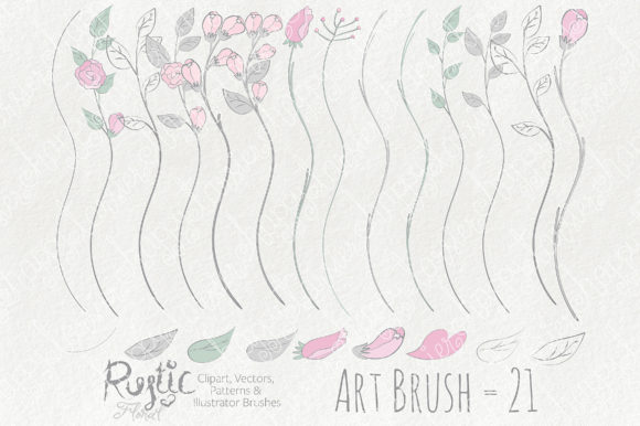 Print on Demand: Rustic Floral Graphics Pack Graphic Illustrations By Michelle Alzola - Image 5