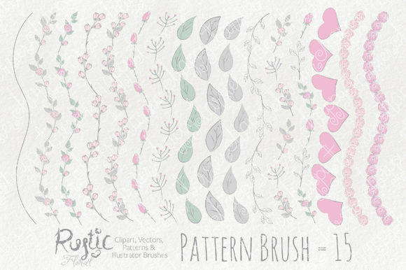 Print on Demand: Rustic Floral Graphics Pack Graphic Illustrations By Michelle Alzola - Image 6