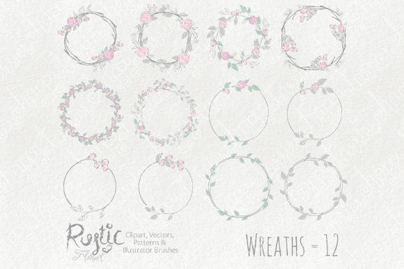Print on Demand: Rustic Floral Graphics Pack Graphic Illustrations By Michelle Alzola - Image 8