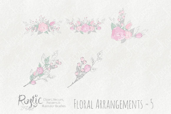 Print on Demand: Rustic Floral Graphics Pack Graphic Illustrations By Michelle Alzola - Image 9