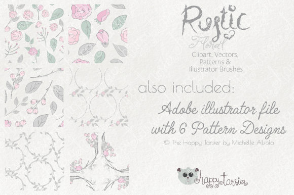 Print on Demand: Rustic Floral Graphics Pack Graphic Illustrations By Michelle Alzola - Image 10