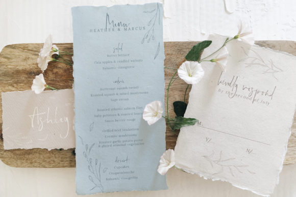 Print on Demand: Rustic Ivory & Blue Wedding Suite Graphic Print Templates By Blue Robin Design Shop