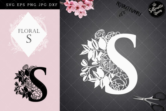 Download Free S Floral Letter Design Graphic By Thesilhouettequeenshop for Cricut Explore, Silhouette and other cutting machines.