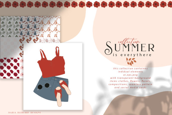 SUMMER is Everythere Graphic Illustrations By BilberryCreate