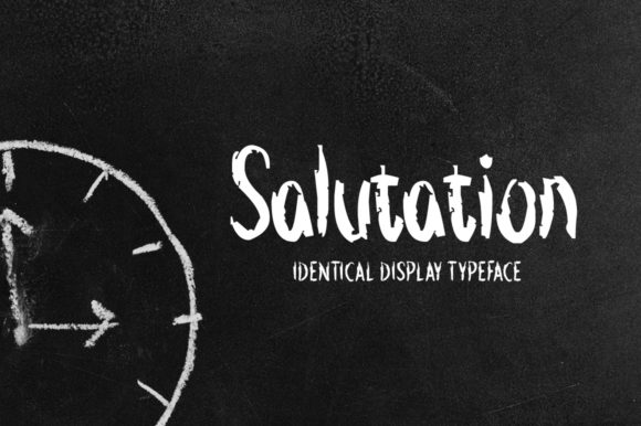 Print on Demand: Salutation Display Font By Imposing Fonts