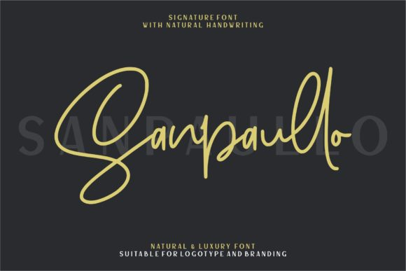 Print on Demand: Sanpaullo Script & Handwritten Font By Garisman Studio - Image 1