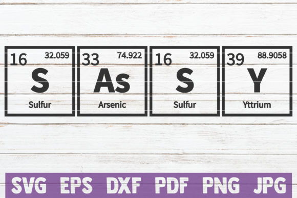 Sassy Periodic Table SVG Cut File Graphic Graphic Templates By MintyMarshmallows