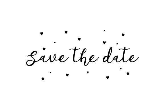 Download Free Save The Date Svg Plotterdatei Von Creative Fabrica Crafts for Cricut Explore, Silhouette and other cutting machines.