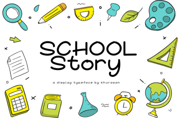 Print on Demand: School Story Display Font By Khurasan