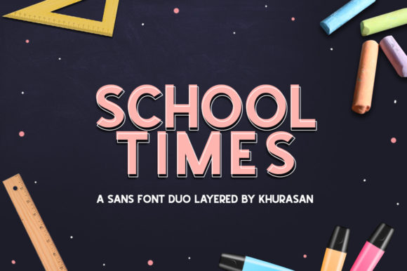 Print on Demand: School Times Sans Serif Font By Khurasan