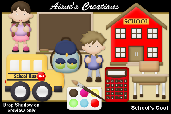 Download Free School S Cool Clip Art Graphic By Aisne Creative Fabrica for Cricut Explore, Silhouette and other cutting machines.