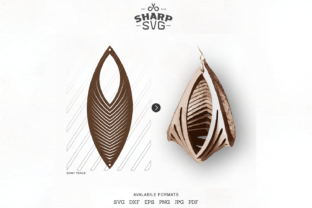 Sculpted Earring Twisted Earrings Graphic Crafts By SharpSVG