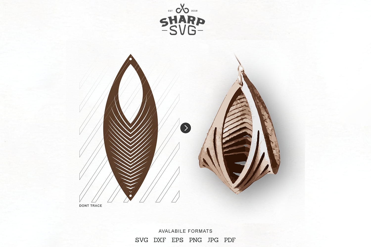 Download Free Sculpted Earring Twisted Earrings Graphic By Sharpsvg Creative for Cricut Explore, Silhouette and other cutting machines.
