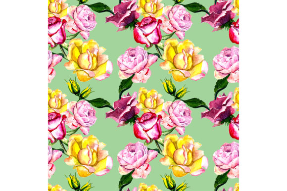 Print on Demand: Seamless Pattern Roses Graphic Patterns By kakva