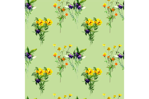 Print on Demand: Seamless Pattern Summer Flowers. Graphic Patterns By kakva